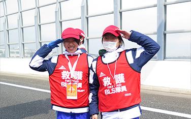 【2015】救護(沿道BLS隊)の様子